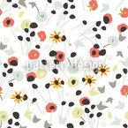 Mille Fleur Weiss Nahtloses Vektormuster