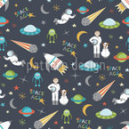 Major Tom Seamless Vector Pattern Design