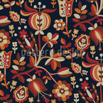 Eastern Flower Fantasy Seamless Vector Pattern Design