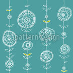 Lei Blue Seamless Vector Pattern Design