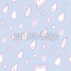 Paisley Rain Seamless Vector Pattern Design