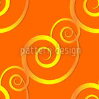 Curly Gold Seamless Vector Pattern Design