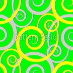 Verde encaracolado Design de padrão vetorial sem costura