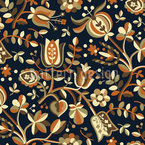 Autumn Bells Seamless Vector Pattern Design