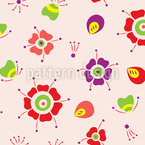 Lady Bug Seamless Vector Pattern Design