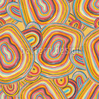 Multicolored Entwined Lines  Vector Pattern