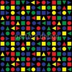 Geometrische Formen Nahtloses Vektormuster