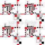 Rot Und Schwarz Konstruktion Nahtloses Vektormuster