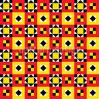 Leuchtender Ethno Quilt Nahtloses Vektor Muster