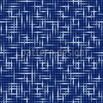 Textus Blue Seamless Pattern