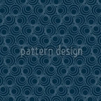 Polyps Blue Seamless Vector Pattern Design