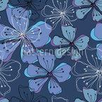 Liebliche Blüten Vektor Ornament