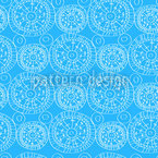 Heavenly Blue Seamless Vector Pattern Design