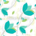 Zarte Blätter Nahtloses Vektormuster