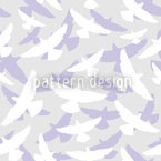 Dove Pastel Seamless Vector Pattern Design