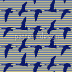 Goose Blue Seamless Vector Pattern Design