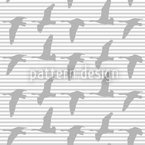 Goose Gray Seamless Vector Pattern Design