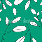 White Leaves Seamless Vector Pattern Design