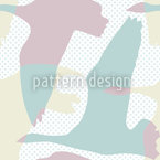 Flying Goose Pastel Seamless Vector Pattern Design