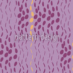 Raindrops Purple Seamless Vector Pattern Design