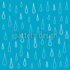 Blue Drops Seamless Vector Pattern Design