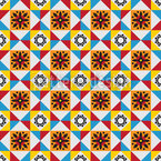 Portuguese Tiles Seamless Vector Pattern Design