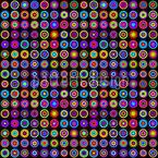 Муранские круги Бесшовный дизайн векторных узоров