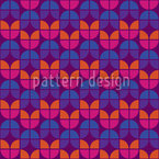 Geometric Tulips Seamless Vector Pattern Design