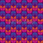 Geometrische Tulpen Nahtloses Vektormuster