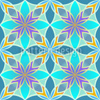 Curaçao Blue Seamless Vector Pattern Design