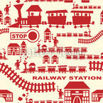 Railway Station Red Design Pattern