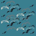 Seagulls Vector Ornament