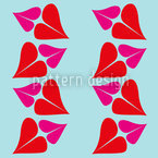 Kuss Nahtloses Vektor Muster
