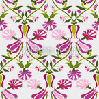 Tulpen Und Nelken Pink Nahtloses Muster