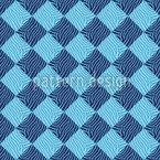 Zebralike Blue Seamless Vector Pattern Design