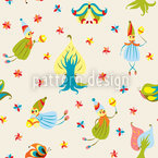 Forest Fairies Seamless Vector Pattern Design