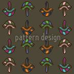 Lustige Pilze Muster Design