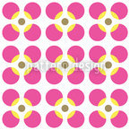 Round Flower Seamless Vector Pattern Design
