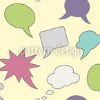 Talk Bubble Design de padrão vetorial sem costura