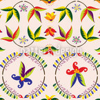 Vintage Blume Nahtloses Vektormuster