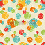 Colorful Circles Seamless Vector Pattern Design