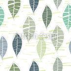 Blätter In Pastell Nahtloses Vektormuster