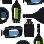 Flaschenpost Nahtloses Vektor Muster