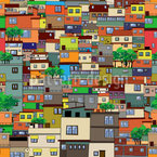 Favela Seamless Vector Pattern Design