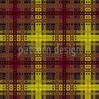 Braunes Tartan Muster Design