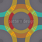 Poly Rings Seamless Vector Pattern Design