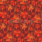 Dekorative Clover Vector Pattern