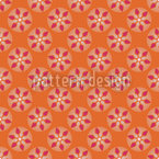 Fantasie Schauplatz Orange Muster Design