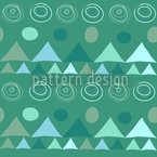 Dreiecke In Grün Nahtloses Vektormuster