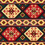 Colorful Kilim Seamless Vector Pattern Design